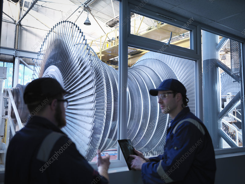 Engineers steam turbine repair works