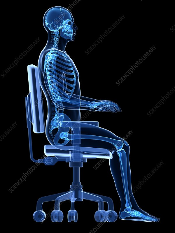 Person sitting with incorrect posture