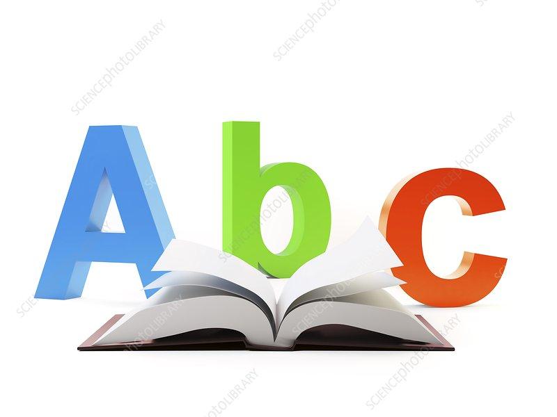 Learning the alphabet, artwork