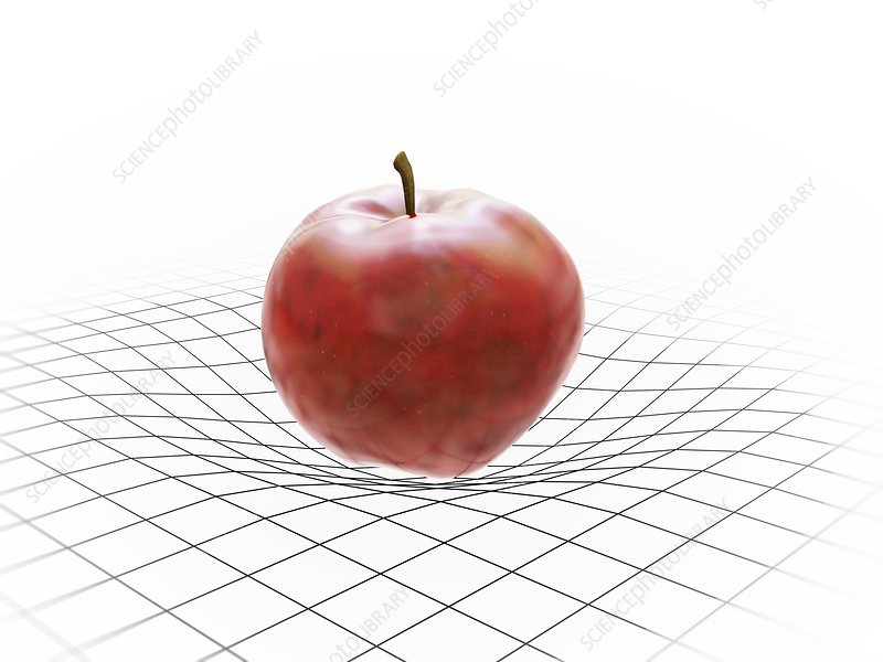 Apple on grid pattern, artwork