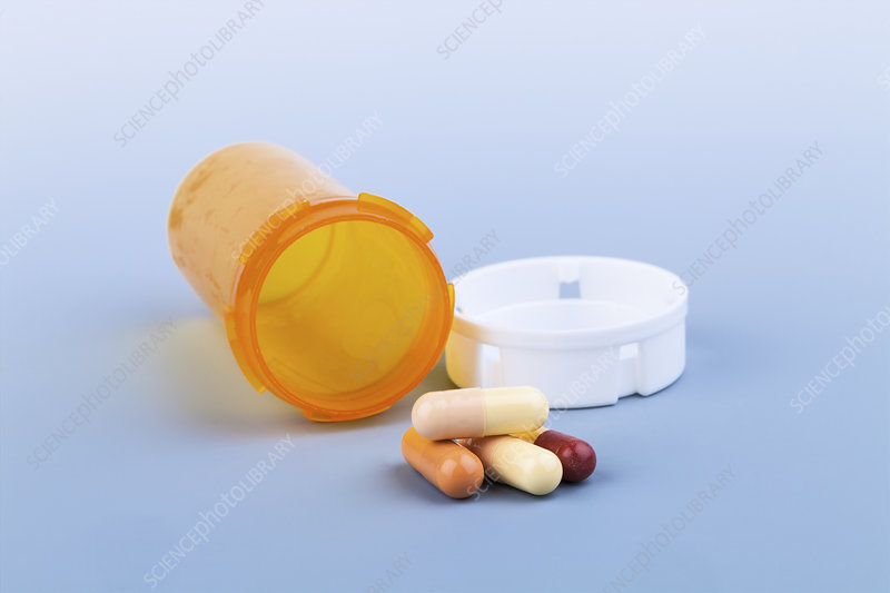 Pills and pill bottle