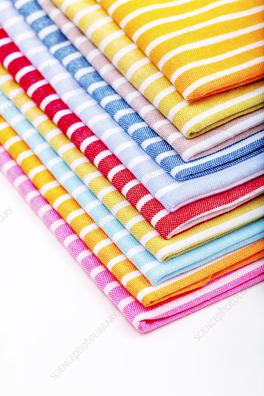 Stack of tea towels