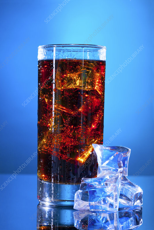 Cola drink in a glass