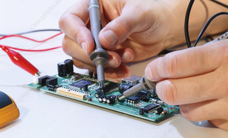 Making an electronic micro processor