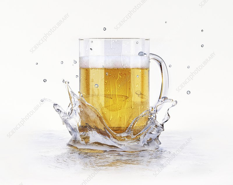 Beer glass, artwork