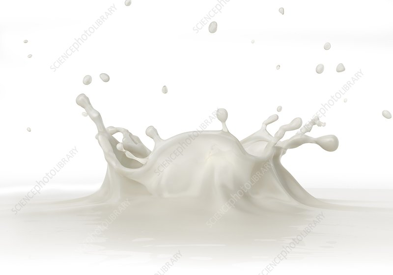 White liquid splashing, artwork