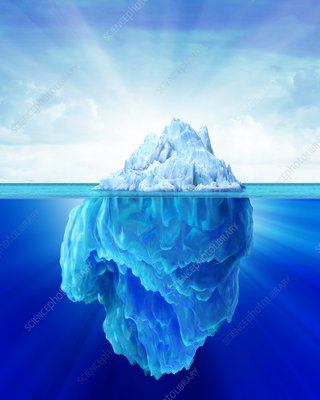 Tip of an iceberg, artwork