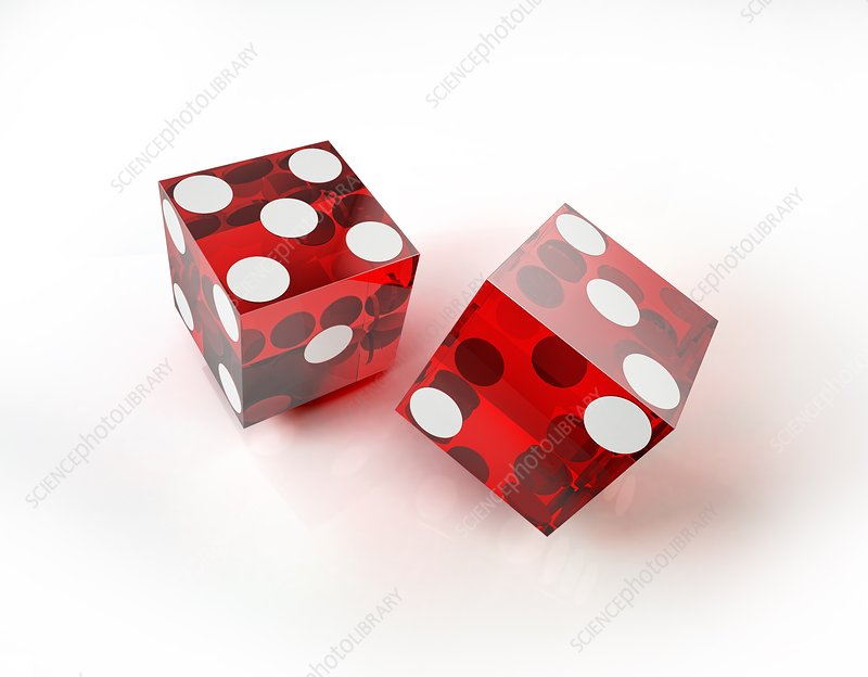 Two red dice, artwork