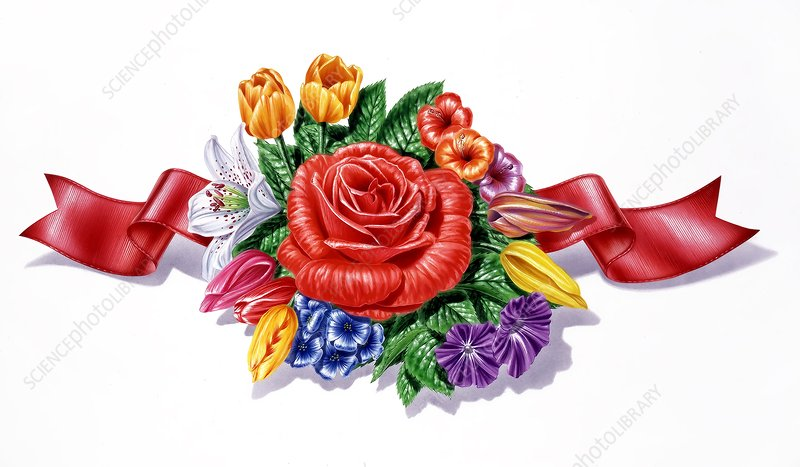 Bouquet of flowers, artwork