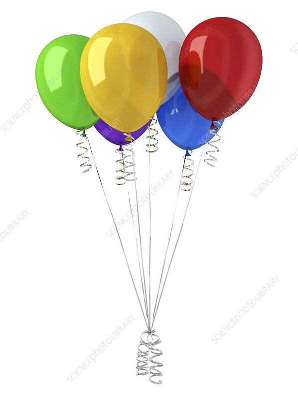 Coloured balloons, artwork