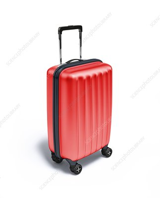 Red suitcase, artwork