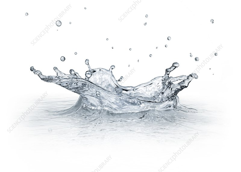 Water splashing, artwork