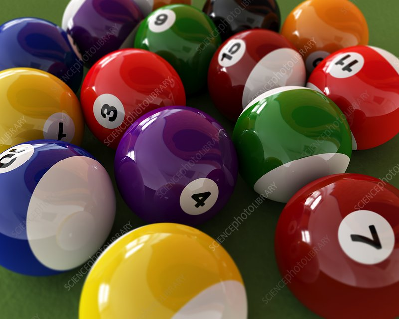 Pool balls, artwork