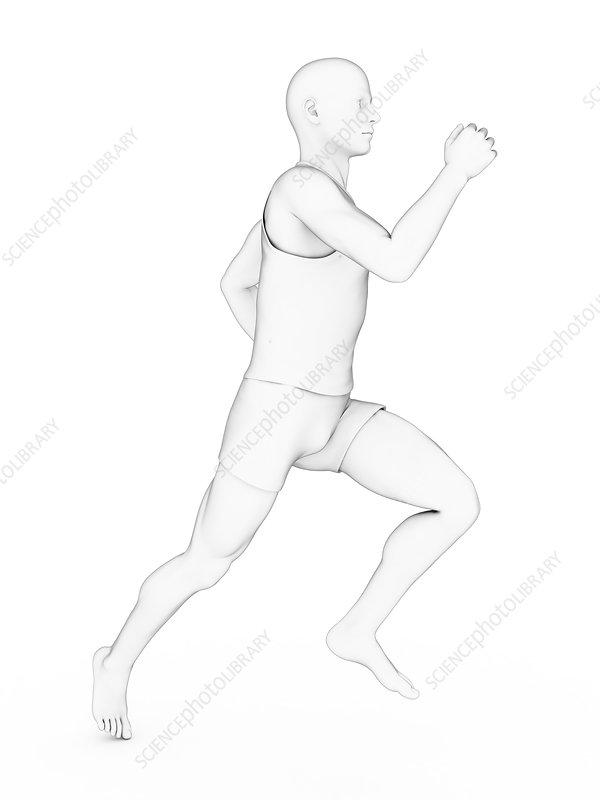 Person jogging, illustration