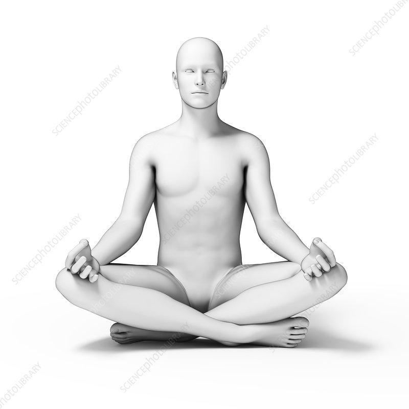 Person doing yoga, illustration