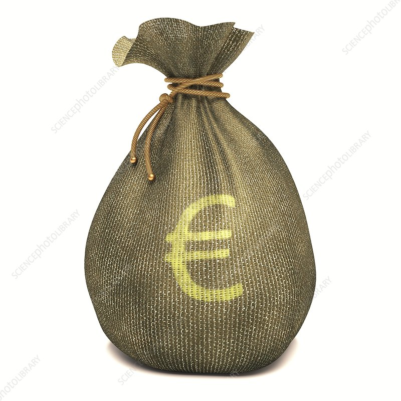 Bag with Euro sign, illustration
