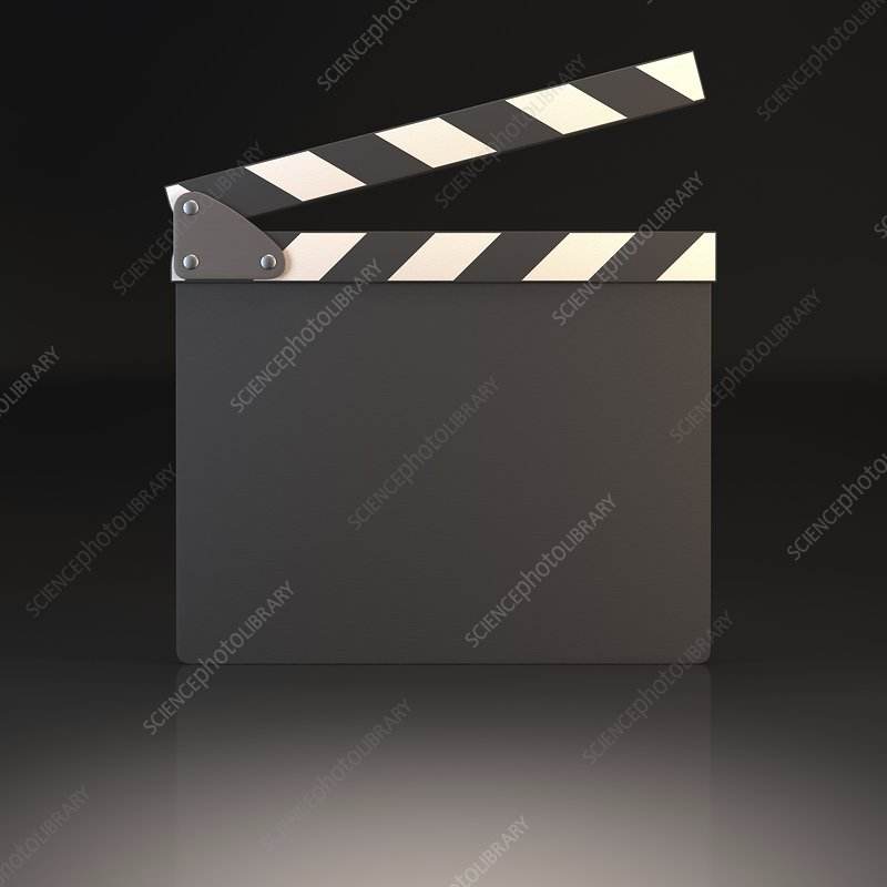 Blank clapperboard, illustration