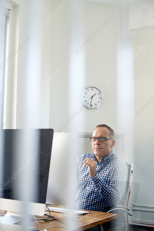 A man working in an office