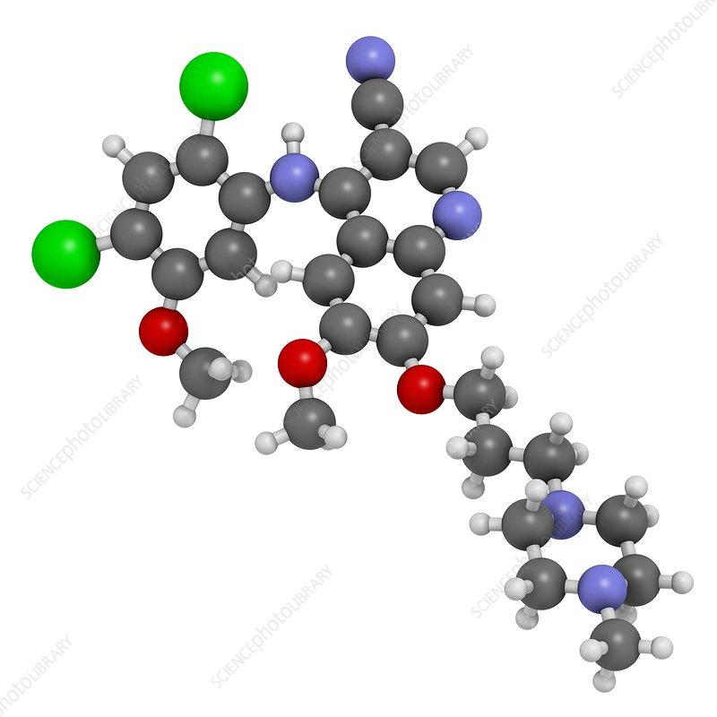 Bosutinib leukemia drug molecule