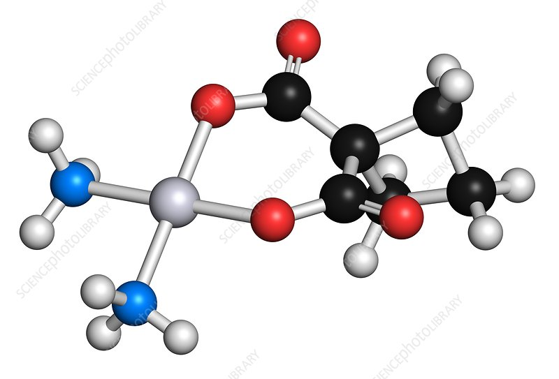 Carboplatin cancer drug molecule
