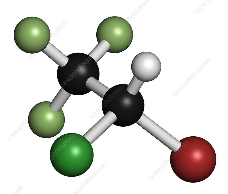 Halothane general anesthetic drug