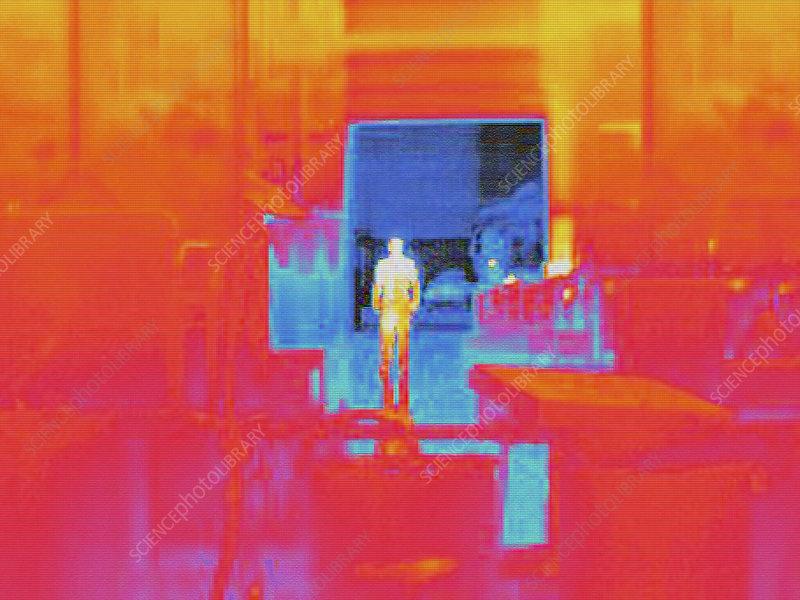 Door Heat Loss : Heat loss from loading doors stock image f