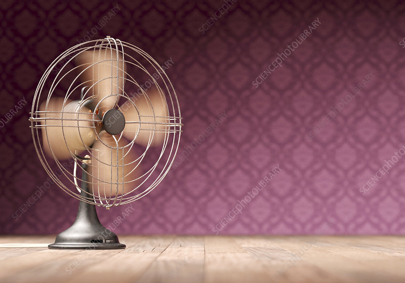Antique electric fan, illustration