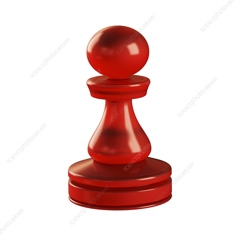Pawn chess piece, illustration
