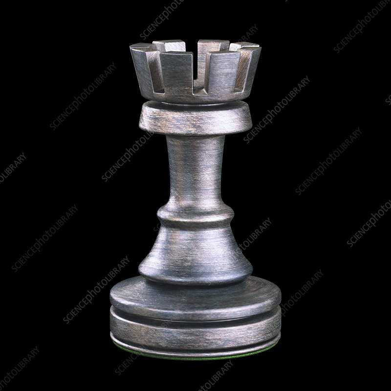 Rook chess piece, illustration
