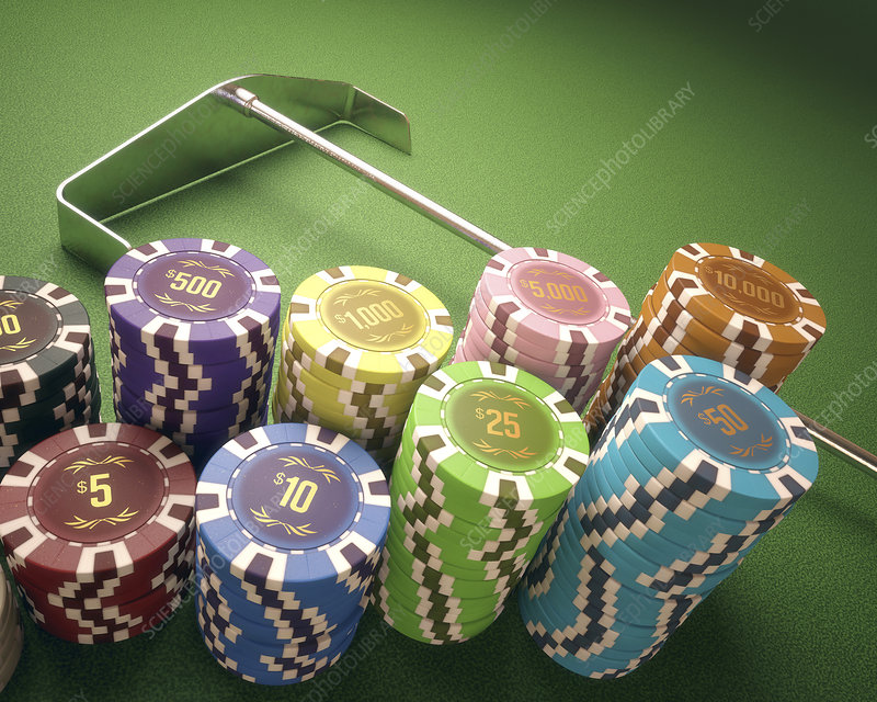 Stacks of gambling chips, illustration