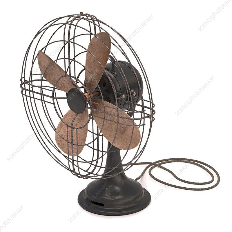 Antique fan, illustration