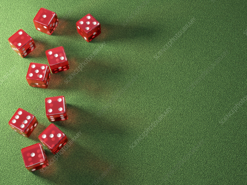Red dice, illustration