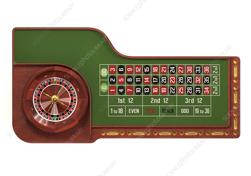 Roulette table, illustration