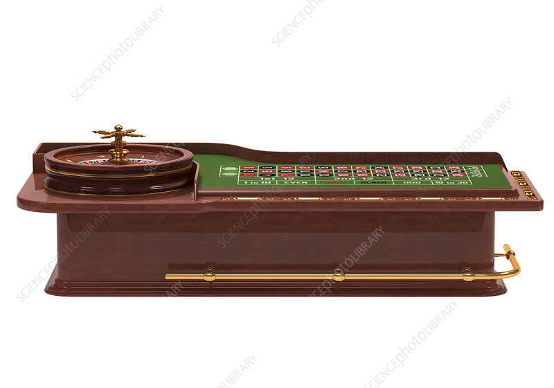 Roulette table, illustration