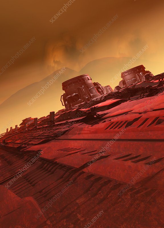 Martian colony, illustration