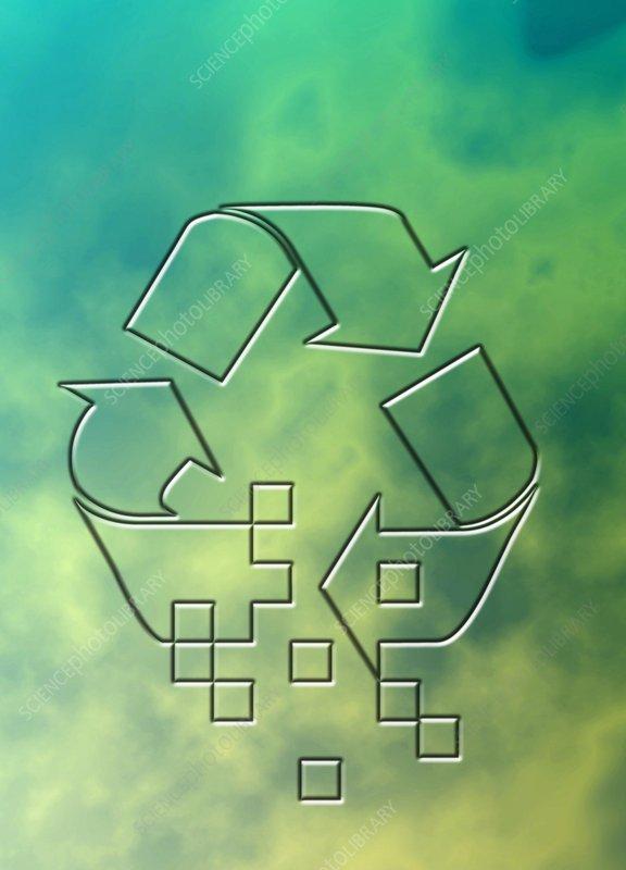 Recycling logo, illustration