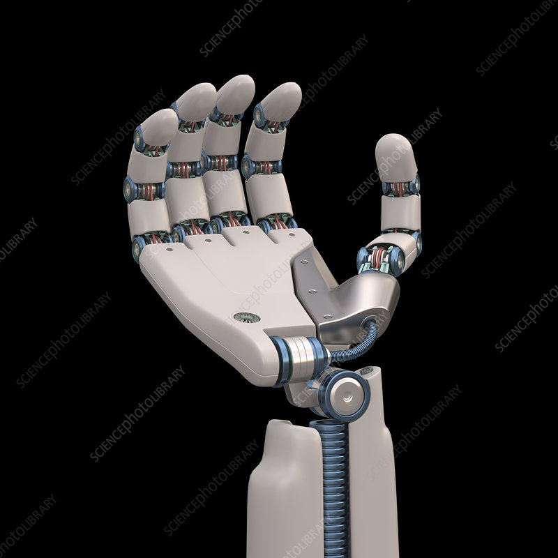 Robotic hand, illustration
