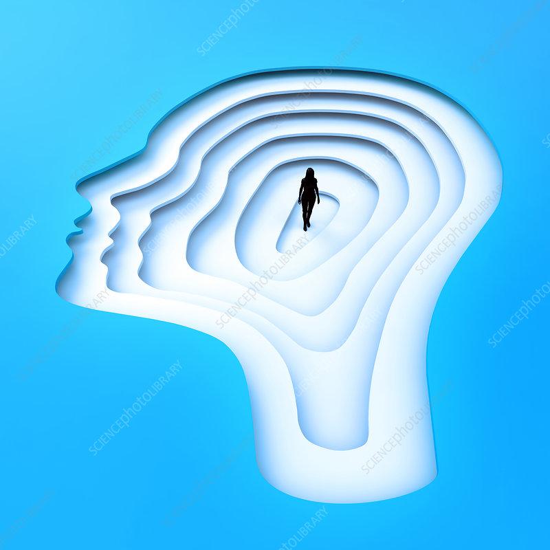 Inside the human mind, illustration