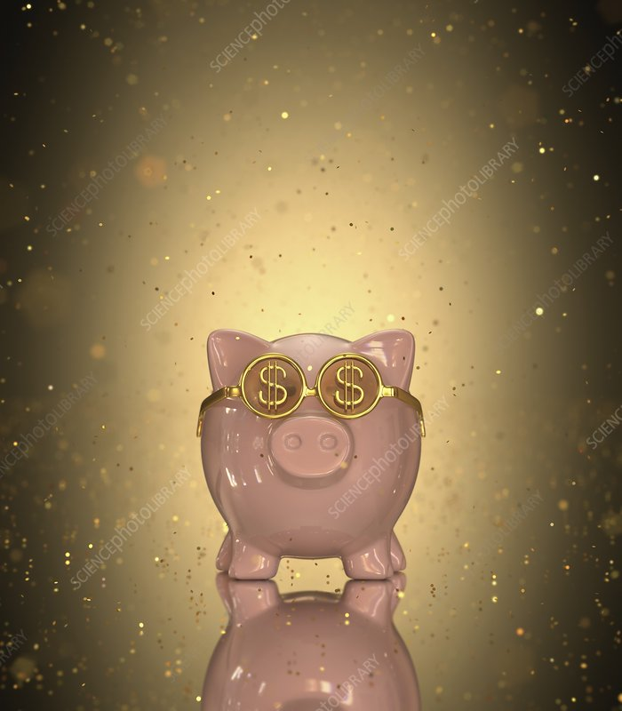 Piggy bank, illustration