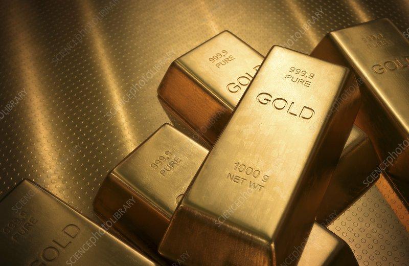 Gold bullion, illustration