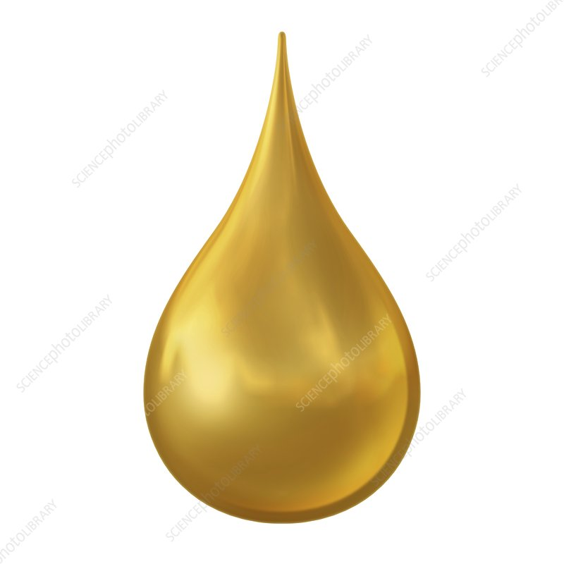 Gold droplet, illustration