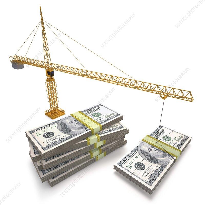 Financial growth, illustration