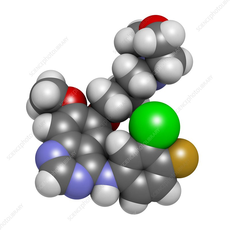 Gefinitib cancer drug molecule