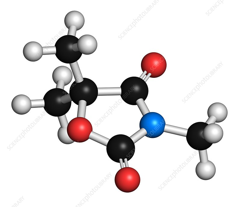 Trimethadione anticonvulsant drug