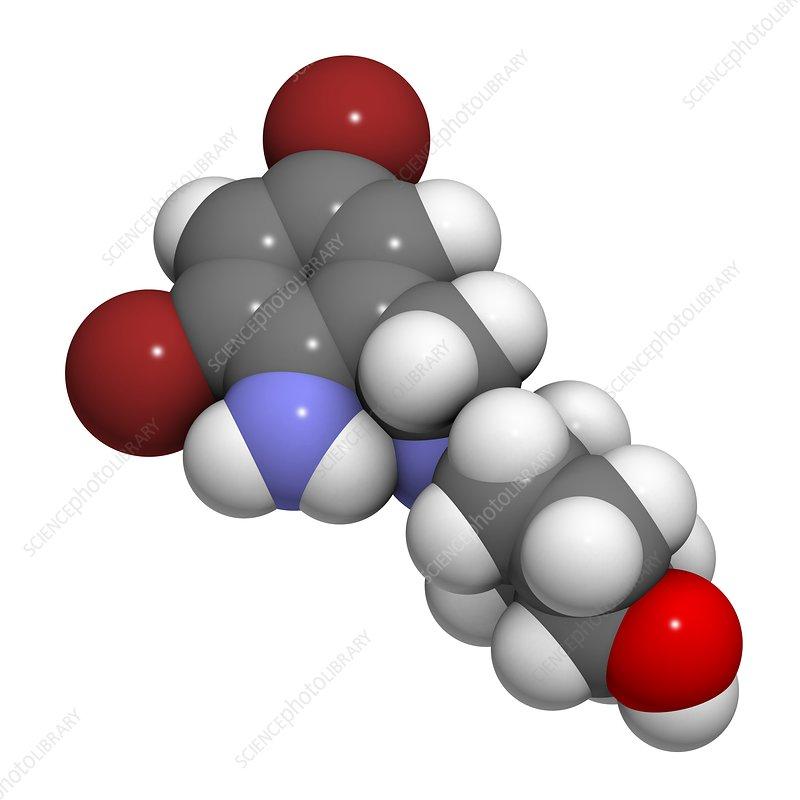 Ambroxol secretolytic drug molecule