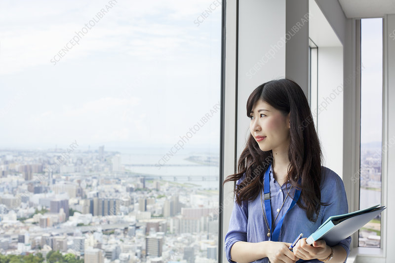 Working woman in an office building