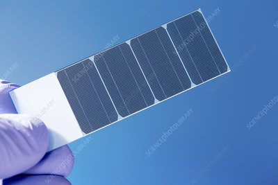 Silicon crystal with photovoltaic cells