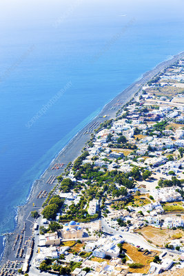 Aerial view of Santorini, Greece