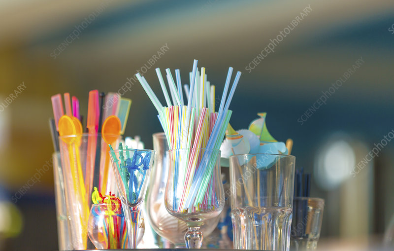 Straws and glasses