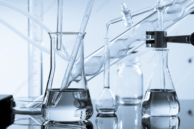 Glassware in lab
